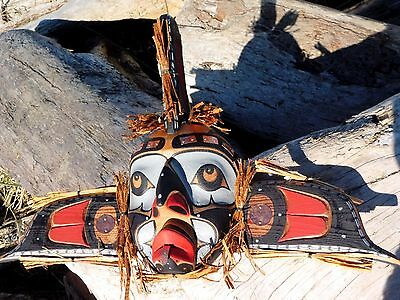Northwest Coast First Nations wooden Art: WHALE MAN MASK by David Mungo Knox