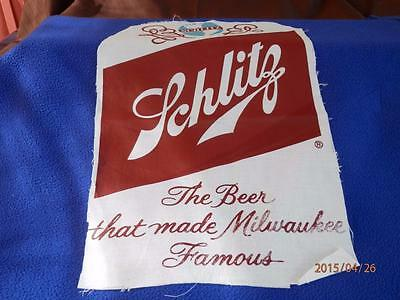 Schlitz  - The Beer That Made Milwaukee Famous - Cloth Wall Hanging
