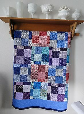 Handmade Youth,Toddler Boy,Girl Machine Quilted Quilt,Blanket,Cotton,Colorful