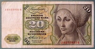 Germany 20 Mark  Note Issued 02.01. 1960,  P 20