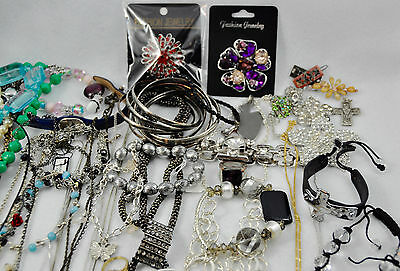 (80+) Large Estate Lot Vintage/Now Jewelry (4lb+) 18KT GF Ring - See All Photos