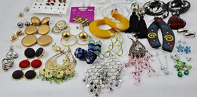 (54 Pairs Matched) Large Estate Lot Vintage and Modern / Retro to Now Earrings