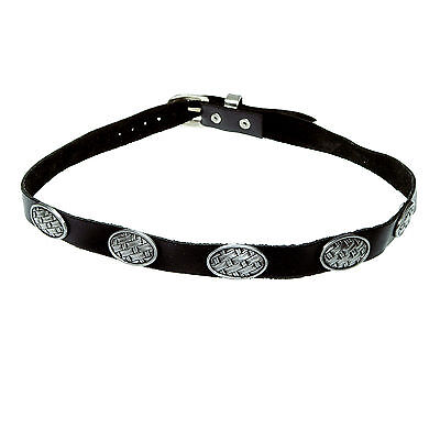 Leather Hatband mit Metal rivets oval Leather hat band Black New