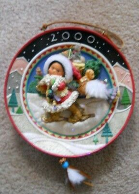 """2000 Enesco FRIENDS OF THE FEATHER Christmas Plate-"""" Presence Of Spirit""""-EUC"""