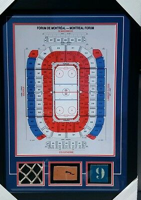 Montreal Forum Seating Plan frame -  Brick Net Seat in 24 by 32 I. Museum Frame.