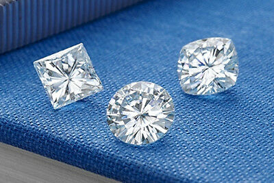 Charles and Colvard Forever One Moissanite DEF Color 8mm Cushion W/ Certificate