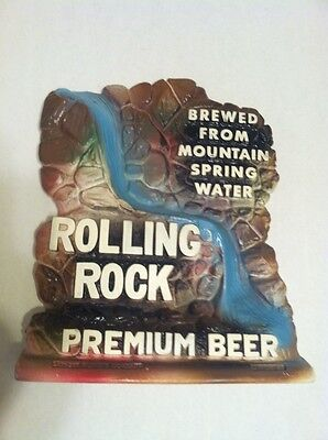 Rolling Rock Premium Beer Chalk Ware Statue (Brewed from Mountain Spring Water)