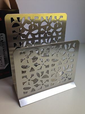 NEW IN BOX! 18/10 Stainless Steel Napkin Holder Mail Holder Contemporary Design