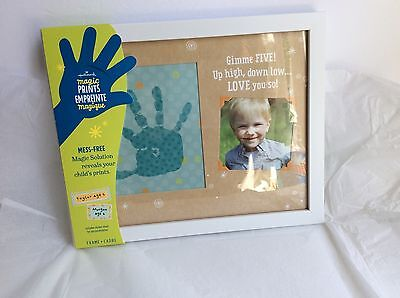 """Hallmark MAGIC HANDS PRINTS Wooden Framed 12x10"""" Gimme Five! Personalize"""