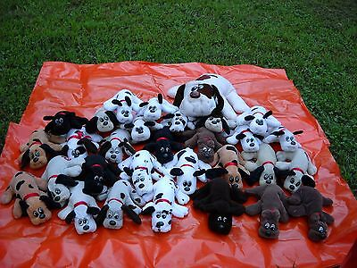 30 vintage 1980s pound puppies plush animals, pre owned, 29 small, 1 large