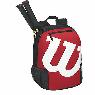 Wilson Tennis Racket Backpack New Black Red Racquet Bag Recreation US Tour Open