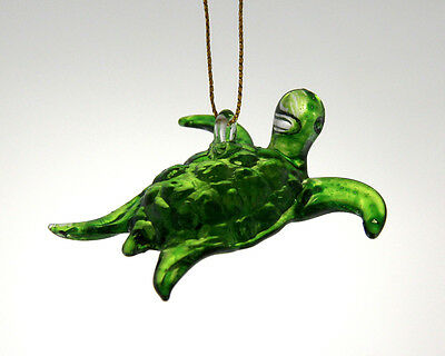 hanging small glass turtle ornament crystal figurine blown glass art handmade