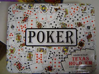 Poker Set in Sealed Re-usable Tin Box  NEW