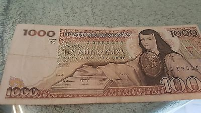 """""""Sor juana Ines"""" 1000 Mexican antiquated no watermark"""