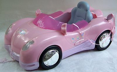 ZAPF Creation BABY BORN pink CONVERTIBLE CAR with LIGHTS horn sound MUSIC & KEY