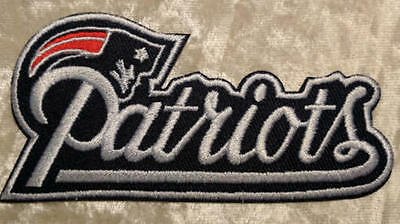"New England Patriots  4"" Name Iron On Embroidered Patch ~ FREE Ship"