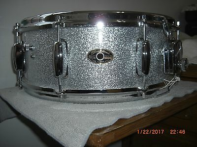 STUNNING CONDITION ! Slingerland Snare Drum Artist Silver Sparkle 60s 1 ply