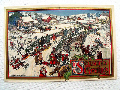 RARE Farm Journal VICTORIAN XMAS CARD Subscription Gift c1900 CORWIN LINSON