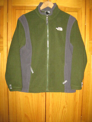 The North Face fleece jacket kids boys L green camping hiking fishing spring