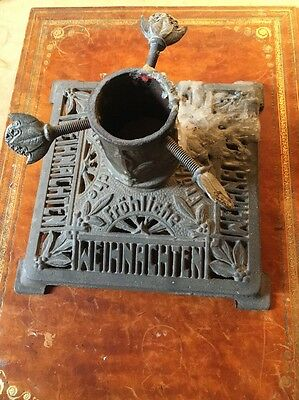 Antique Cast Iron Christmas Tree Stand Germany