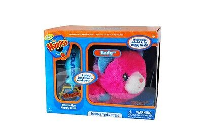 The Happy's Special Edition Lady Pink Plush Motorized Cat Happys Pet Zhu Toys