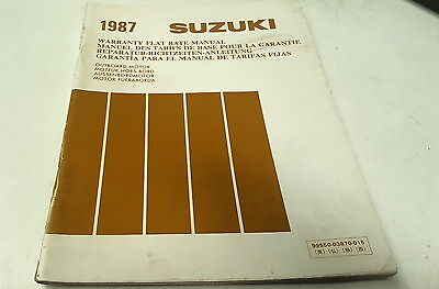 1982 - 1987   SUZUKI  OUTBOARDS Factory FLAT RATE  Manual