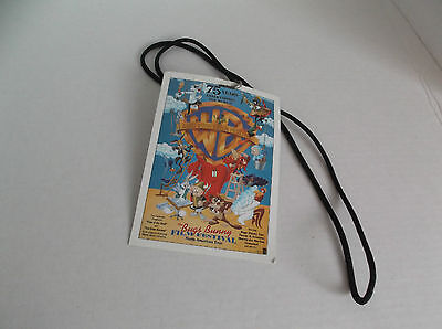 Vintage VIP pass WB WARNER BROS BROTHERS 75 YEARS BUGS BUNNY FILM FESTIVAL RARE