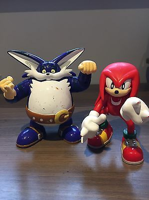 Knuckles And Big The Cat Sonic The Hedgehog Official 2000 Sega Figures Toys Lot