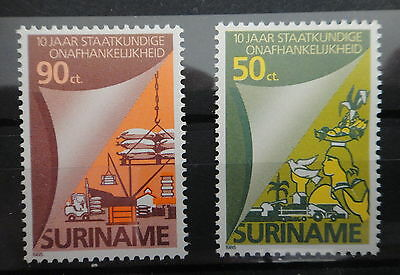 SURINAM 1985 - AGRICULTURE INDUSTRY BIRD - COMPLETE SET - MNH Stamps -  r3b462
