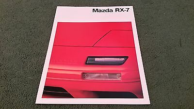 1989 MAZDA RX7 EFi Normally Aspirated COUPE SPANISH / ENGLISH 20pg BROCHURE MINT