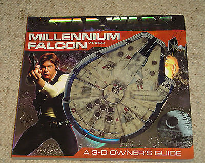 STAR WARS MILLENNIUM FALCON YT-1300 3-D OWNER'S GUIDE HC 1st Ed. EXC