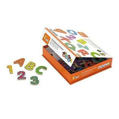 Colourful Wooden Viga Magnetic Letters and Numbers 77 Piece Fridge Magnets