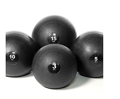 4 Medicine Balls Gym Slam Ball Set Fitness Equipment Weight Training Gear Med