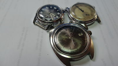 Lot of 3 wrists watches for parts or repair, E224
