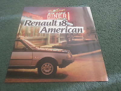 March 1983 RENAULT 18 AMERICAN - UK Special Edition Saloon BROCHURE