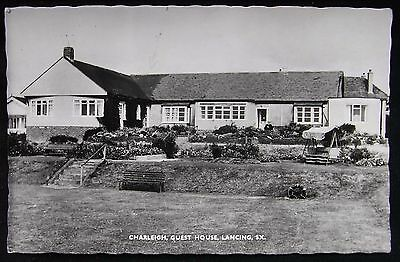 Old Real Photo Postcard - Charliegh Guest House, Lancing, Sussex