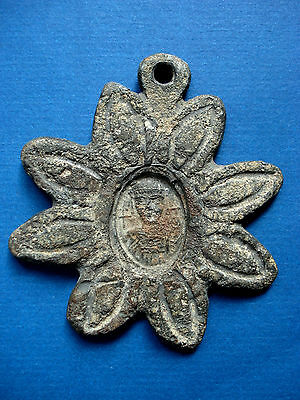 Rare Medieval / Crusaders Era Lead/alloy Pendant With King
