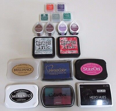 Seventeen Craft Pigment Ink Pads - Very Good Condition