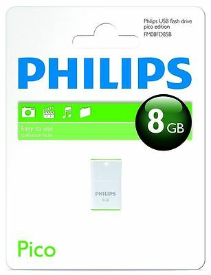 Philips Pico Edition 8GB Mini Memory Stick USB 2.0 Flash Drive New