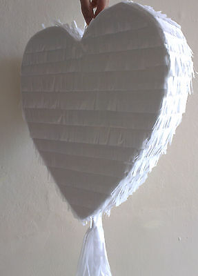 White Heart shape Pinata Love Wedding Engagement Marry Marriage Prom Party UK