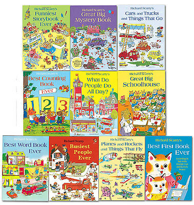 Richard Scarry's Best Collection Ever 10 Books Set Children School Reading Books