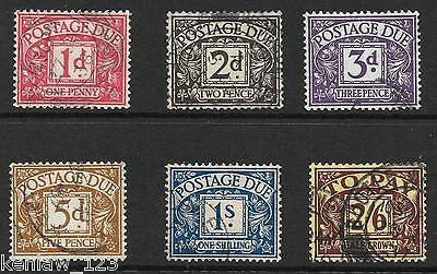 GB 1936/37  KEVIII Postage Dues. Wmk E 8 R. Used. Cat £64