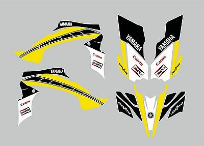 YAMAHA YFZ STICKER KIT Retro Race / GRAPHIC KIT / YFZ450X 450R / QUAD STICKERS