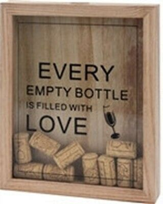 Wine Corks Display Gift Wall Art wooden Box