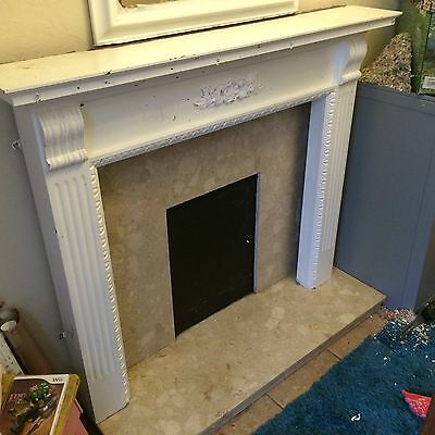 mantlepiece, Marble Surround And Hearth