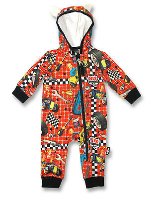 Six Bunnies Retro Hot Rod Racer Playsuit, Alternative Rock Baby Boy Girl Outfit