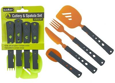 Camping Cutlery Spatula Set Cooking Eating Picnic Caravan Knife Fork Spoon Cook