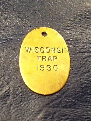 Antique Vintage 1930 Cross Wisconsin Trap Tag Rare Tag To Find
