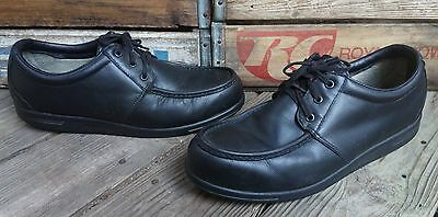 RED WING SHOES Black Leather Steel Toe Moc Toe Oxford Work Shoes Men's Size 13D