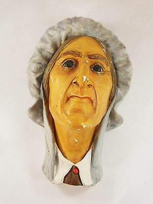 Vintage Bossons head chalkware Betsy Trotwood Charles Dickens